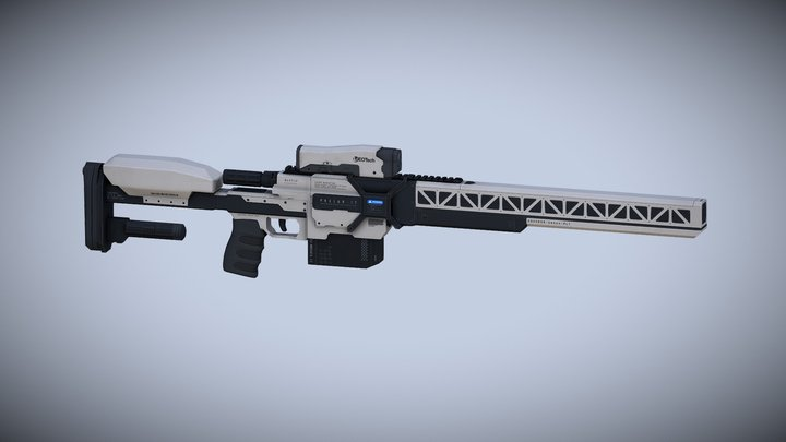 Laser Rifle AAA: (standard + sight) 3D Model