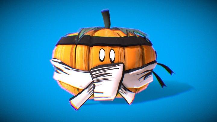 Sumo Pumpkin 3D Model