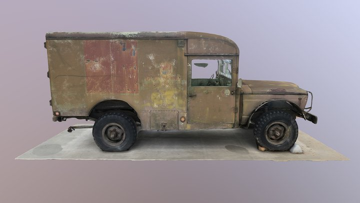 Kaiser Jeep M725 ambulance 3D Model