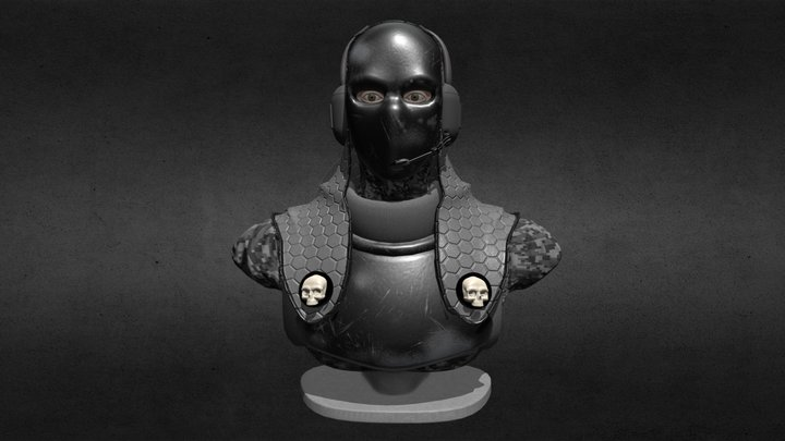 Ghost Recon Phantoms Bust 3D Model