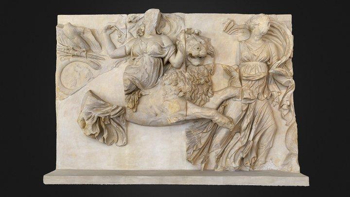 Pergamon Altar - Platte aus dem Südfries 3D Model
