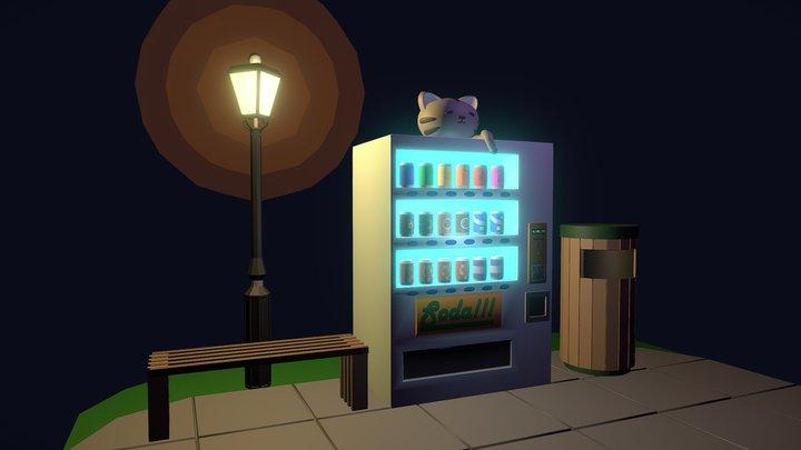 Vending Machine Guardian 3D Model