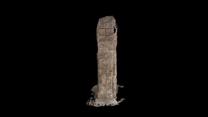 Quirigua Stela C three stone heart text 3D Model