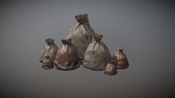 Old Pouches 3D Model