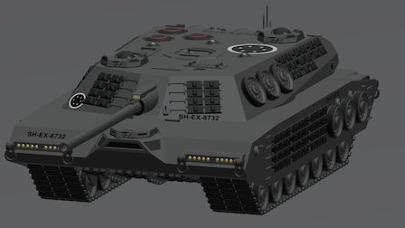 Superheavy Tank Redux 3D Model