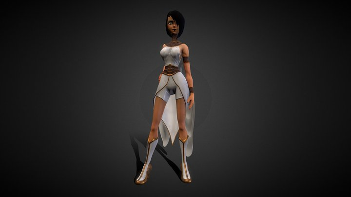 Pharah - Low Poly Stylized Character 3D Model