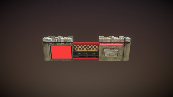 Wall assets together for Emily Earhart Game 3D Model
