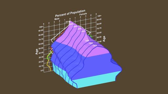 Population Pyramid 3D Model