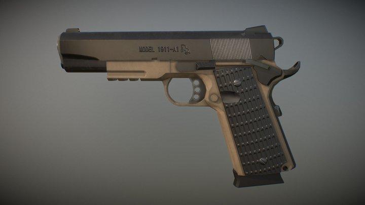 M1911 Low poly 3D Model