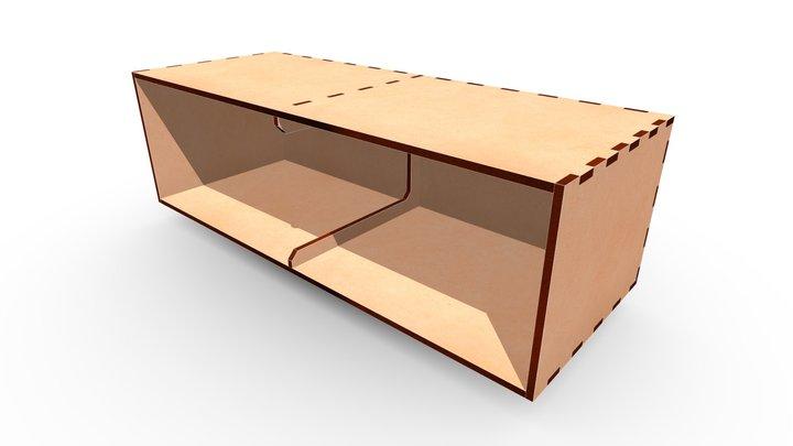MDF Box 520x200x160a 3D Model