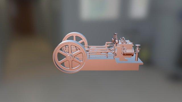 Stationary Steam Engine 3D Model