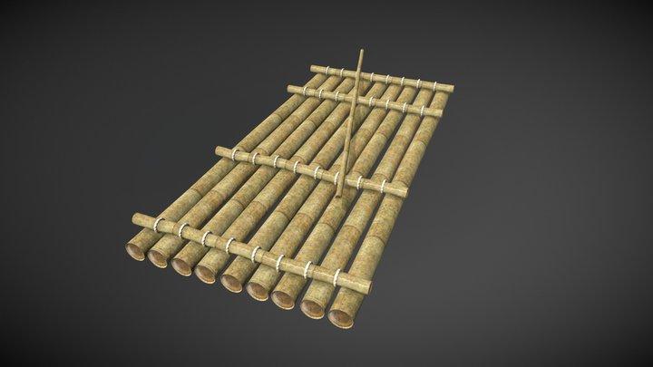 Jangada de Bambu (Bamboo raft) 3D Model