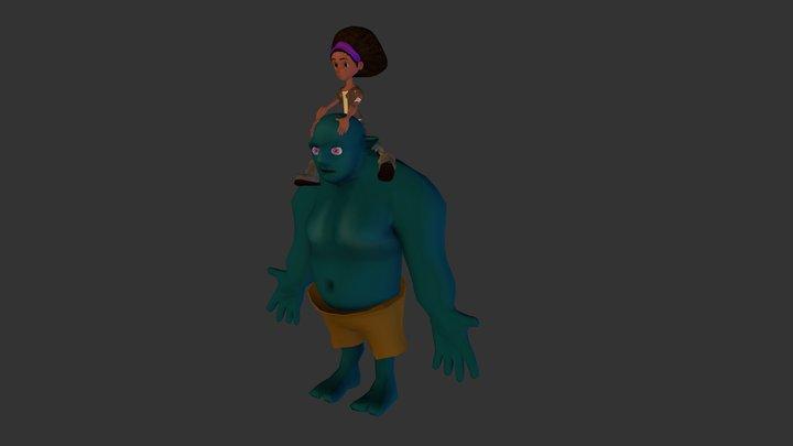Terri and Troll Posed 3D Model