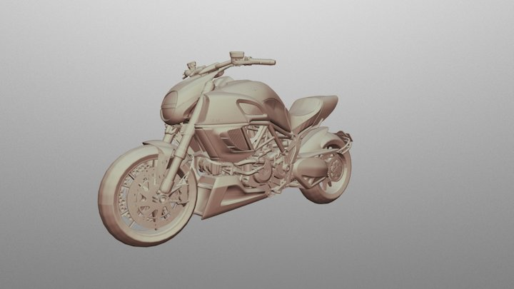 Ducati Diavel Motorbike 3D Model