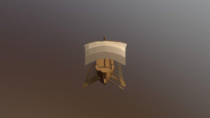 Navio Egípcio - Reino Novo 3D Model
