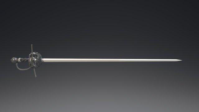17th Century Rapier 3D Model