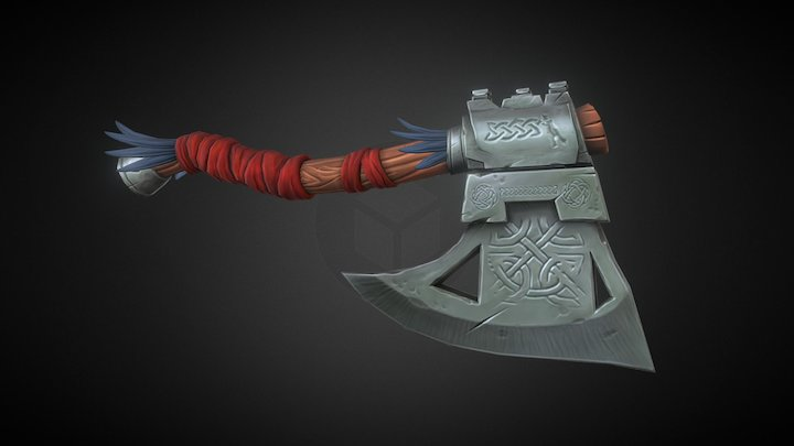 Stylized Viking Axe 3D Model