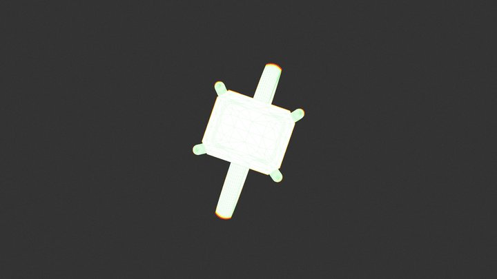 טבעת אמרלד 3.66 קארט 3D Model
