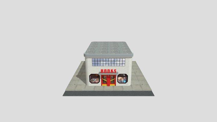 Art Deco Book Store 3D Model