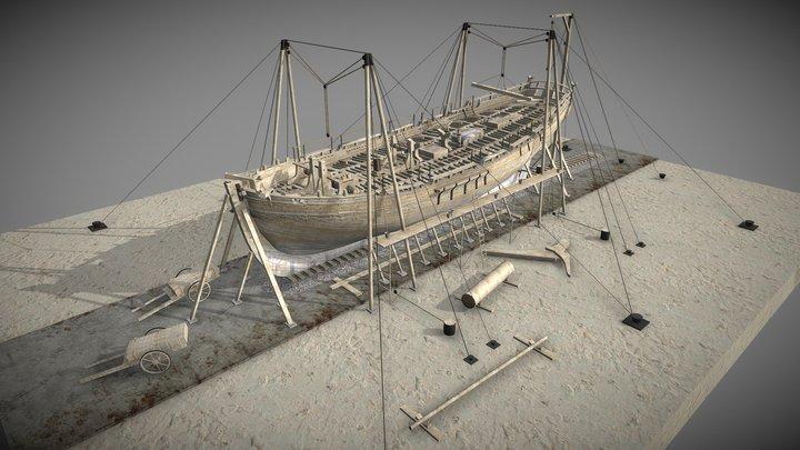 Shipyard with Alert (1777) 3D Model