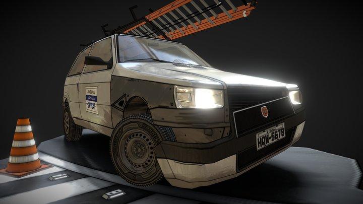 Company Car - Uno Mille 3D Model