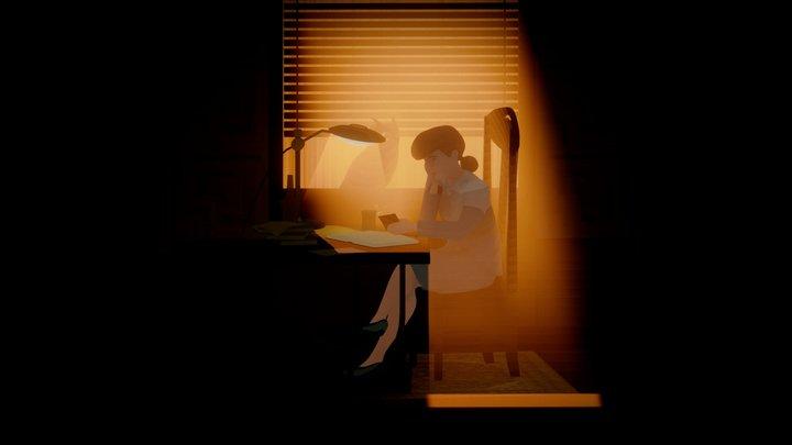 Blade Runner Study Girl 3D Model