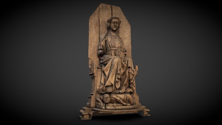 St Olaf, the Patron Saint of Norway 3D Model