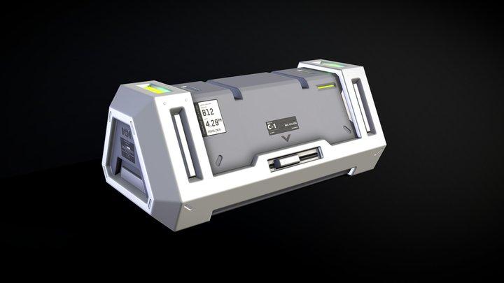 Sci-Fi crate / ammunition box (2) 3D Model