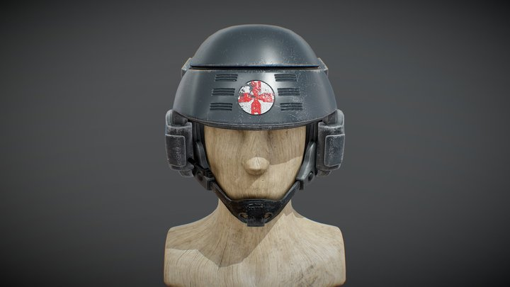 """I'm Doing My Part"" Medic Helmet 3D Model"