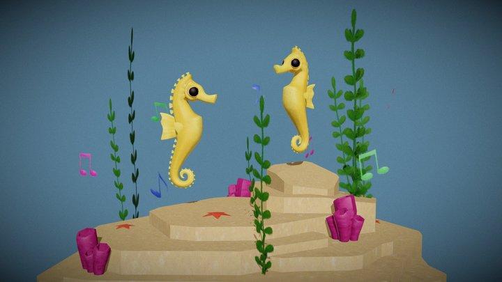 Dancing Seahorses - I cavallucci marini danzanti 3D Model