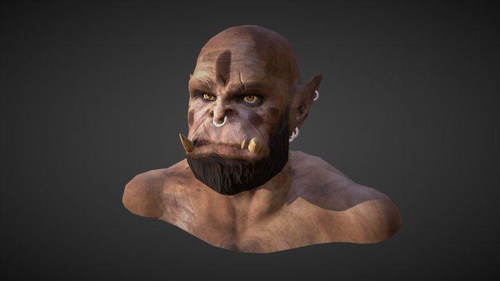 Orc Bust 3D Model