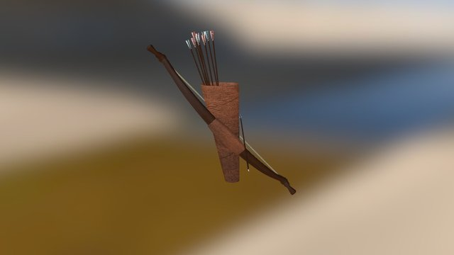 Bow And Arrows 3D Model