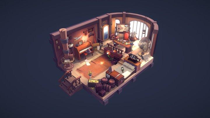Captain Komodo's Cabin 3D Model