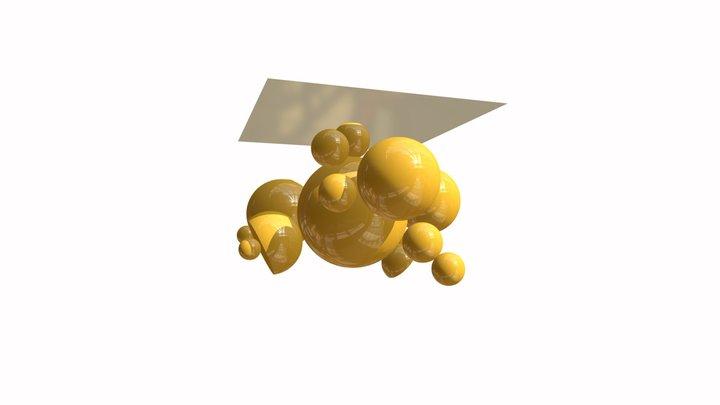 Kovový lustr I - Zlatá Praha 3D Model
