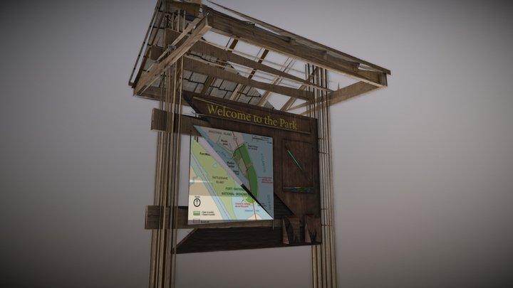 State Forest Information Kiosk 3D Model