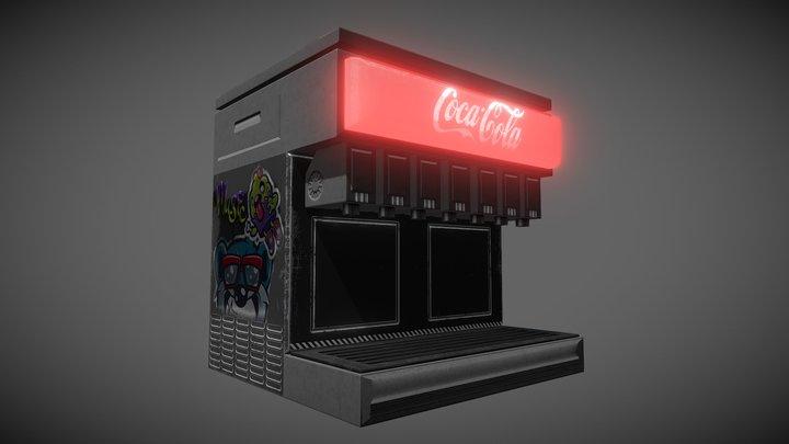 Soda Fountain Machine 3D Model