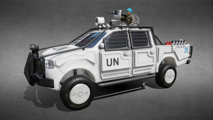 Armored Toyota Hilux UN 3D Model