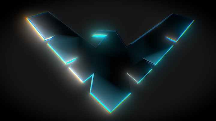 Nightwing Logo 3D Model