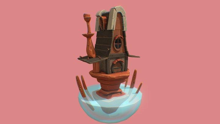 House Stylized 3D Model