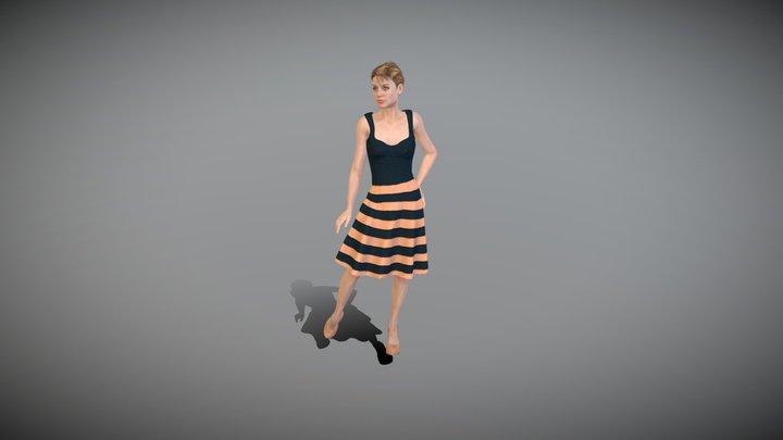 Mira Female Character Summer Dress 3D Model