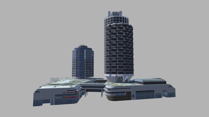 Dizengoff Center Tel Aviv 3D Model