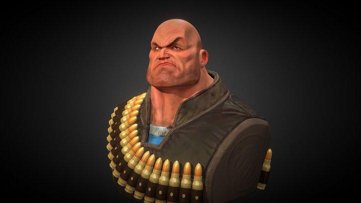 Heavy Weapon Guy 3D Model