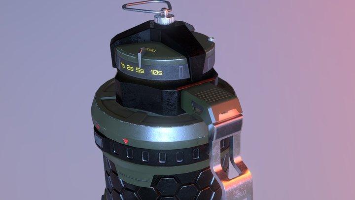 High Poly GRENADE 3D Model