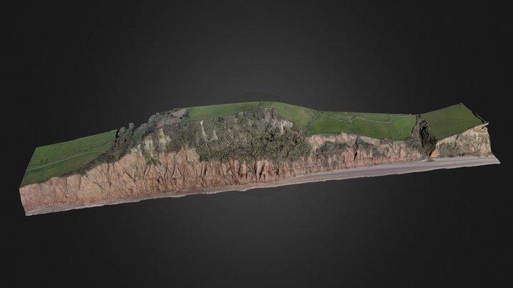 Salcombe Mouth coastal model 3D Model