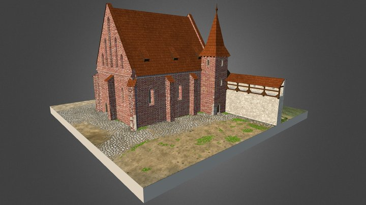 Stara Synagoga około 1500 roku. 3D Model