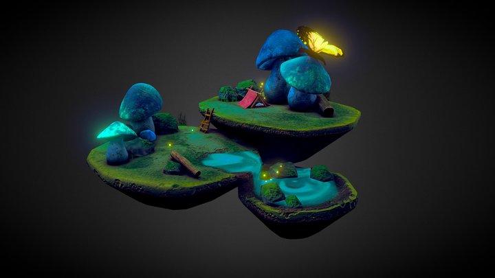 Stylized Environment 3D Model