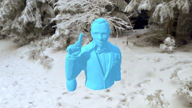 BOND 2015 Daniel Craig Bust Spectre 3D Model