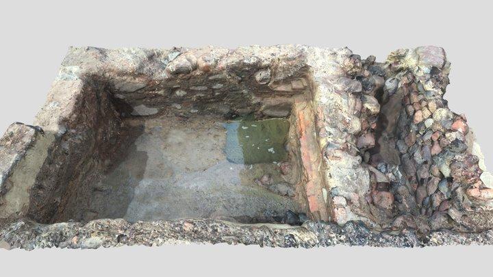 Kretingos archeologinių tyrimų fragmentas 3D Model