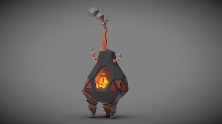 Potbelly Stove 3D Model