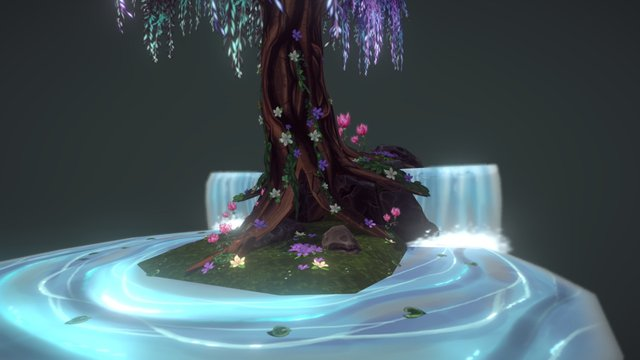 Enchanted Willow Tree 3D Model